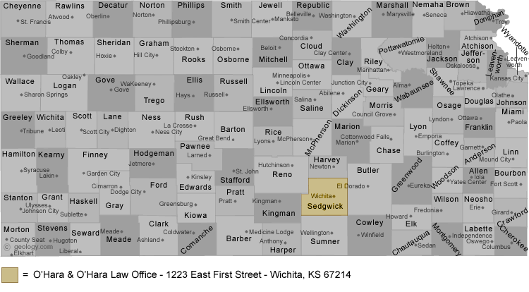 Kansas Lawyer Map
